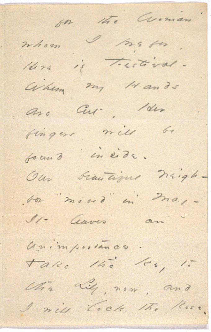 Emily Dickinson carta a Susan en 1864