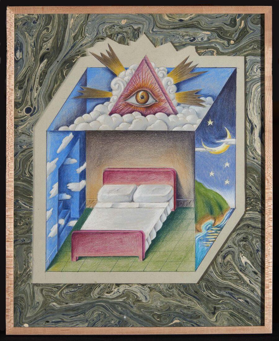Dormitorio (1972) obra figurativa de Guillermo Perez Villalta