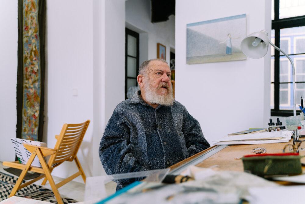 Guillermo Perez Villalta en su estudio de Tarifa