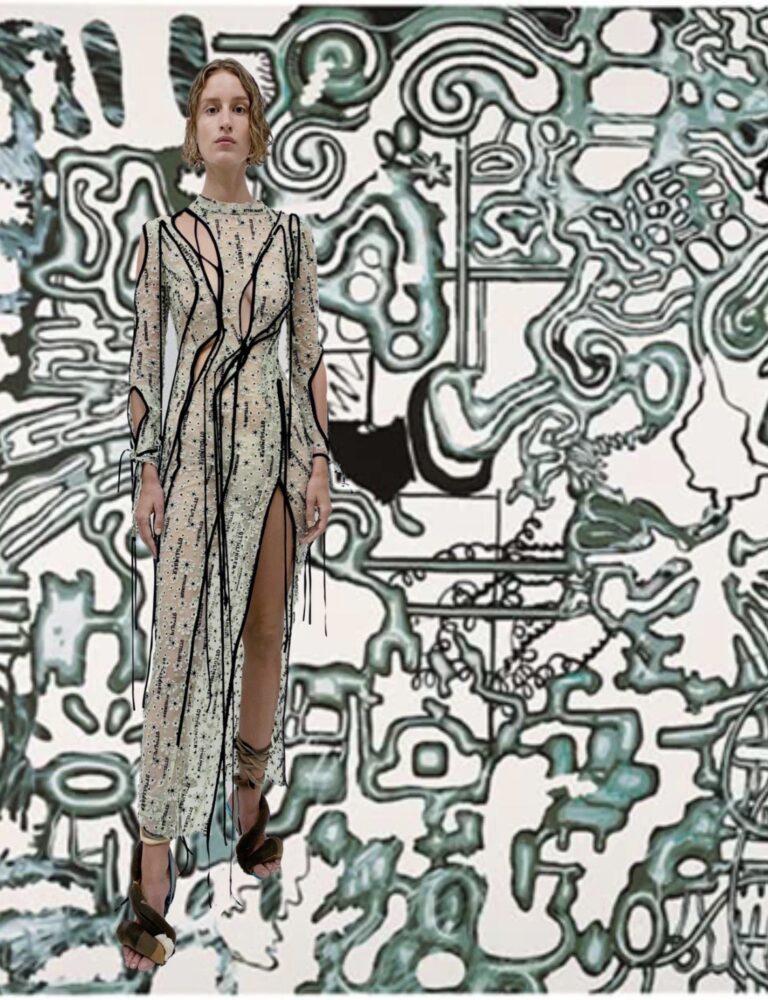 moda y arte Ottolinger y Luis Gordillo