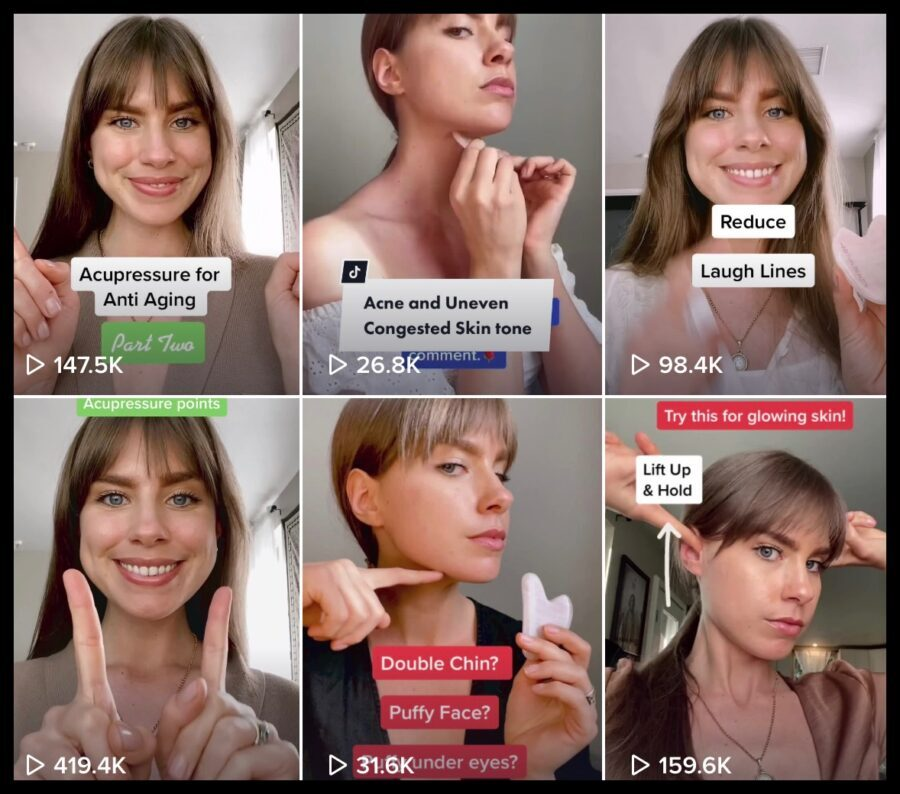 Stephanie Flockhart chinese medicine doctor facial massage gua sha tutorials