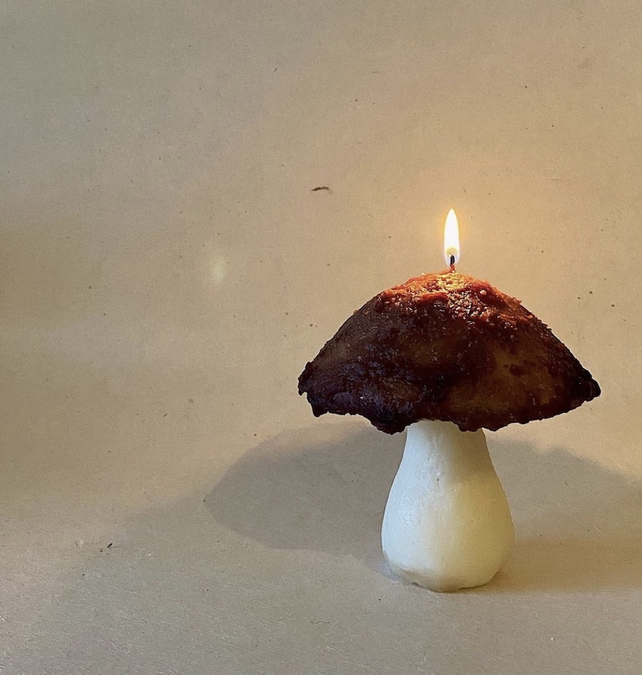 Porcini Shroom Candle, Emone